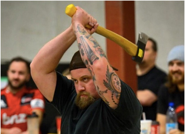 Happiness Is Throwing An Axe At An Axe Throwing League